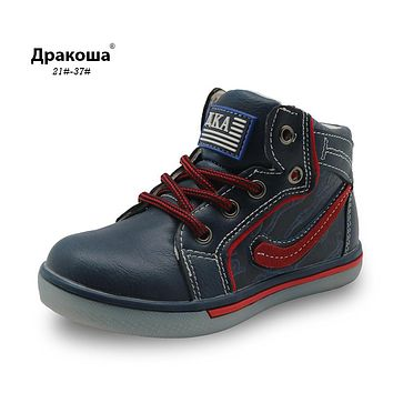New mid-cut flat toddler kids boys shoes zipper fashion sport shoes winter spring sneaker for boys