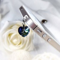 MobileCharmz! Tablet PC / Mobile Phone Headset Jack Heart Charm Adapter for Apple, Samsung , Sony,