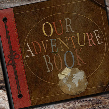 Our Adventure Book Personalized Photo Album, Scrapbook or Guest Book