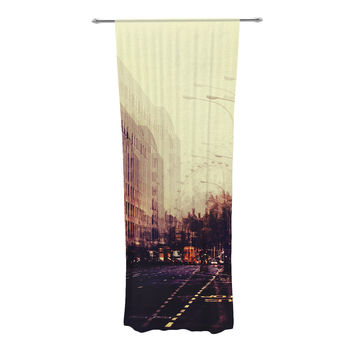 "Ingrid Beddoes ""London"" Decorative Sheer Curtain"