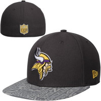 Youth New Era Graphite Minnesota Vikings 2014 NFL Draft 59FIFTY Fitted Hat - http://www.shareasale.com/m-pr.cfm?merchantID=7124&userID=1042934&productID=555173358 / Minnesota Vikings