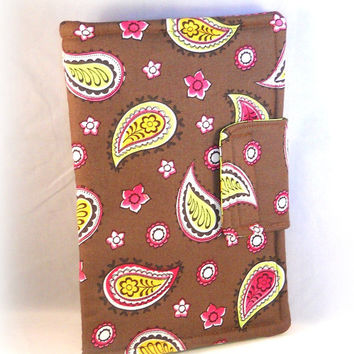 Kindle Fire Cover Kindle Fire HD Cases Cute Kindle Fire Case Paisley Brown Green Pink