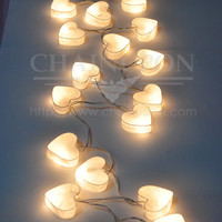 WHITE HEART LANTERN STRING DECORATION,HOME,TEEN BEDROOM IDEA,WEDDING GIFT LIGHTS