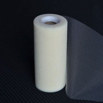 Ivory Premium Tulle on Spool 25 Yards, Craft Project Wedding Table Decoration