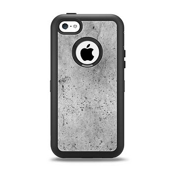 The Concrete Grunge Texture Apple iPhone 5c Otterbox Defender Case Skin Set