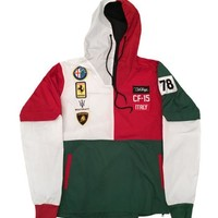 ONETOW Club Foreign Italy Series Windbreaker In Green/White/Red