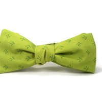 Pi bowtie, math bowtie, pi day, science bowtie, pi tie, apple pi bowtie, green pi bowtie, pi day accessory, grass green bowtie