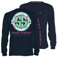 Simply Southern Classic SS Logo Whale Turtle Long Sleeve Pocket T-Shirt