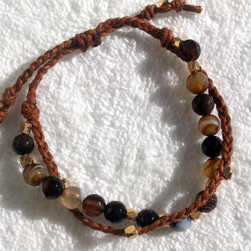Bracelet Agate Natural stone Beaded bracelet