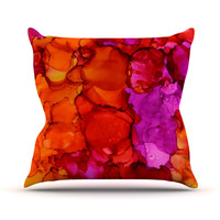 "Claire Day ""Fierce"" Pink Orange Throw Pillow"