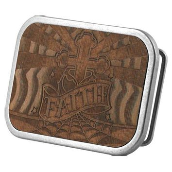 DCCKU3R Faith Wood Belt Buckle
