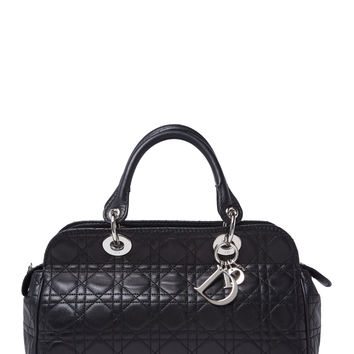 Christian Dior Women's Black Lambskin East West Bag - Black