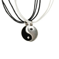 LOVEsick Yin-Yang Cord Necklace 2 Pack