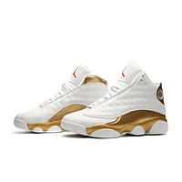Air Jordan 13 Retro Basketball Shoes White Gold