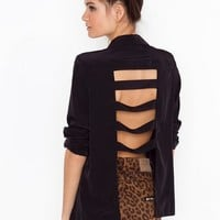 Caged Back Blazer  in  Clothes at Nasty Gal