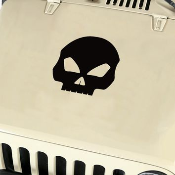 Skull Hood Body Vinyl Decal Sticker (21) fits: Jeep Wrangler JK TJ YJ