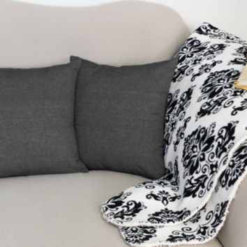 Set of 2 Dark Grey-Black Denim Pillows - Cotton Covers and/or Cushions - 14x14, 16x16, 18x18, 20x20