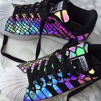 Adidas Casual Running Chameleon Reflective Sneakers Sport Shoes