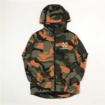 Off White Vivian Frank Orange/green Camouflage Jacket S Xl | Best Deal Online