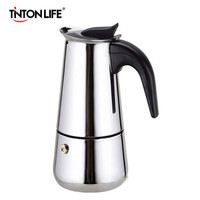 2 Cup Stainless Steel Moka Espresso Latte Percolator Stove Top Coffee Maker Pot