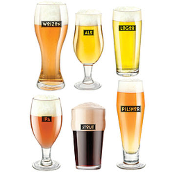 craft beer glass set from things you never knew things i. Black Bedroom Furniture Sets. Home Design Ideas