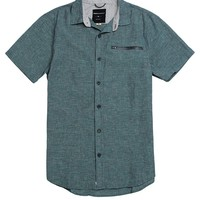 Modern Amusement Zip Pocket Short Sleeve Woven Shirt - Mens Shirt