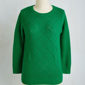 Minimal Mid-length Long Sleeve Dining Car Cutie Sweater