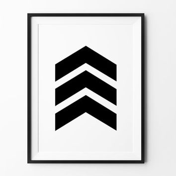Chevron Print, poster, inspirational, wall decor, home decor, print art, gift idea, graphic art, geometric print, black and white poster