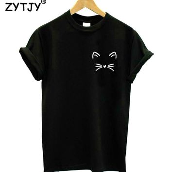 cat pocket Print Women tshirt Cotton Casual Funny t shirt For Lady Girl Top Tee Hipster Tumblr Drop Ship Y-25