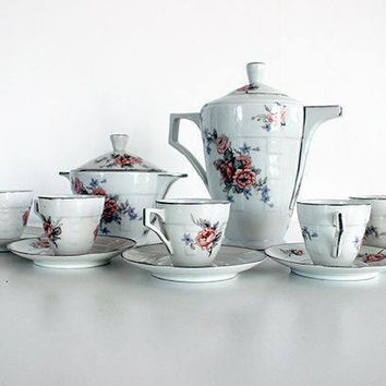 Art Deco French Antique Limoges Coffee Set or Service SALE