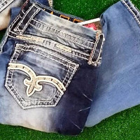 ROCK REVIVAL ELAISE EASY BOOTCUT JEANS
