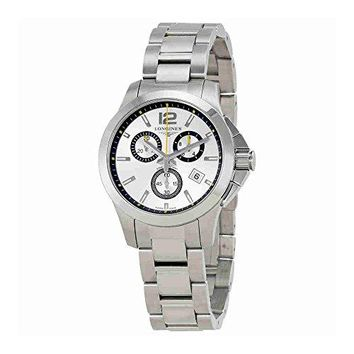 Longines Conquest Chronograph Silver Dial Watch L33794786