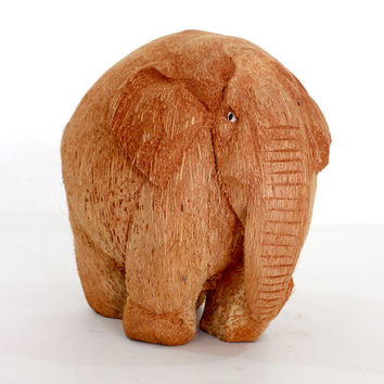 Exclusive Elephant Figurine - Hand Coconut wood carved from old Sri Lanka technology