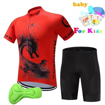 Children 2018 Cycling Bike Jersey Racing Sport kids Cycling Clothing Ropa Ciclismo Short Sleeve Breathable Bicycle Sportswear