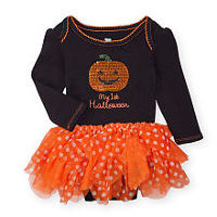 Koala Baby Girls Black/Orange