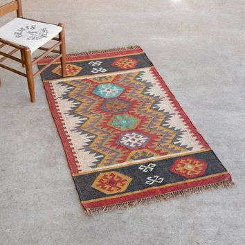 Canyon Wool Kilim Rug, 3' x 5'