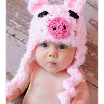 Baby Crochet Girl Pig Hat Photography Prop Halloween Costume Pink Piggy - Treasured Little Creations  sc 1 st  wanelo.co & Best Crochet Halloween Costume Products on Wanelo