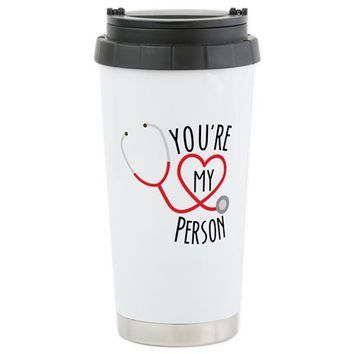 "Grey's Anatomy"" You're Travel Mug"
