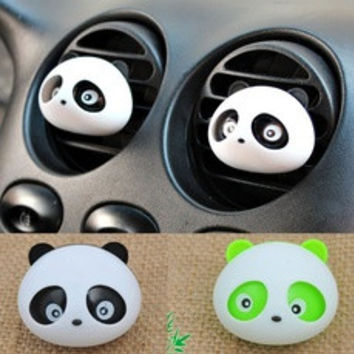 2016 Panda Car Perfume Outlet Panda Eyes Will Jump Air Conditioning Vent With Scented Tea CAR-0131 [7938588551]