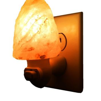 Natural Himalayan Salt Night Light, Air Ionizer, Nursery Lamp (Natural )
