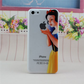 Transparent Snow White Phone Back Cover Case Shell For Apple iPhone 5C
