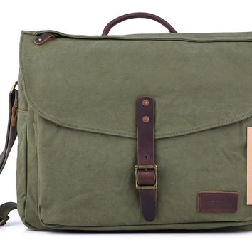 Day-First™ #60611 Canvas Laptop Messenger Bag