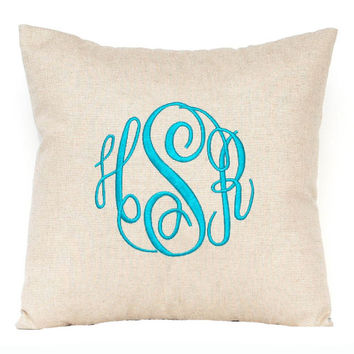 Metallic Monogram Pillow, Metallic Pillow, Personalized Pillow,  Metallic Decor, Metallic Pillow, Personalized Pillow, Silver Pillow