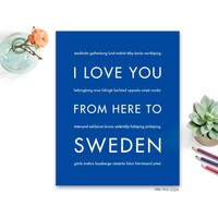 SWEDEN Travel Art Print | Gift Idea | HopSkipJumpPaper