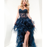 Jasz Couture 2013 Prom -Sexy Midnight Cha Cha Dress - Unique Vintage - Cocktail, Pinup, Holiday & Prom Dresses.