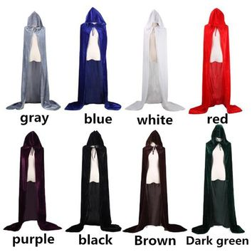 Halloween Death Cloak Cosplay Wizard Witch Prince Princess Gold velvet Cloak Cape Men and women Applicable