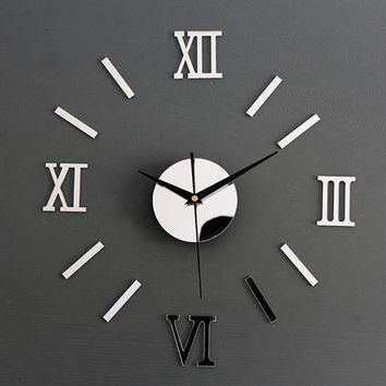 Roman Numeral  Vintage Frame Less Wall Clock