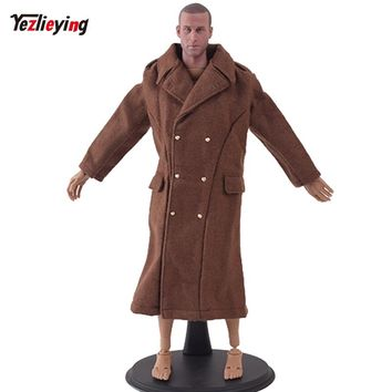 TopToys 1/6 Scale Men Dragon Clothes Coat US Military Male Long Overcoat Coat Long Sleeves Toys For 12'' Soldier Figure Doll