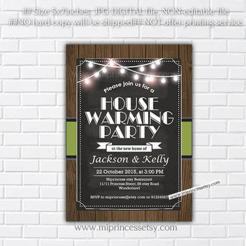 housewarming invitation, wood, rustic invites, New house home sweet home Invitation Card | We have moved Invitation Card Design - card 137
