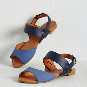 Boardwalk the Line Sandal in Blue